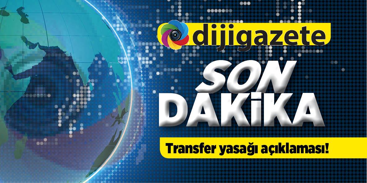 Trabzonspor'dan transfer yasağı açıklaması