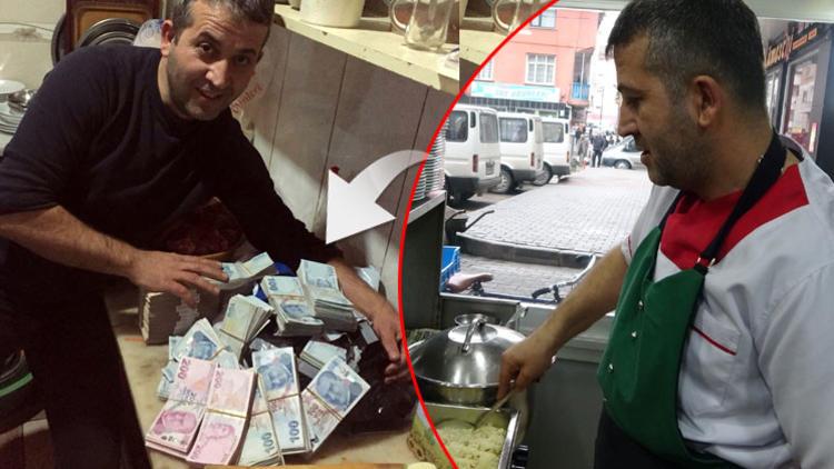 Gıda malzemesi sipariş etti, koliden para çıktı!