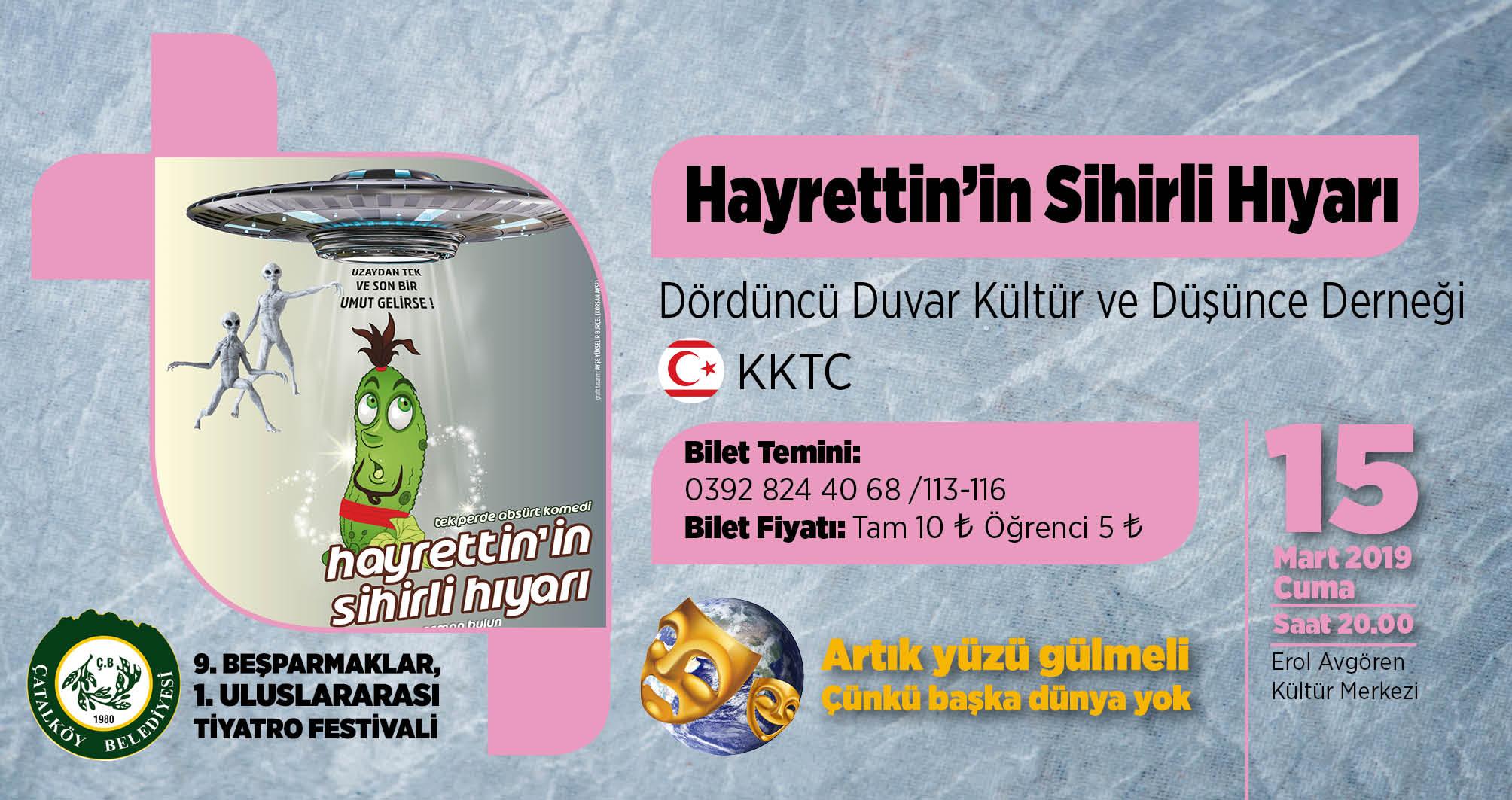 'Hayrettin'in Sihirli Hıyarı' bu akşam Çatalköy'de