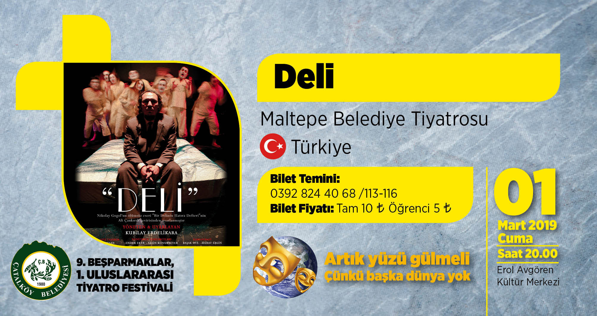 Uluslararası Beşparmaklar Tiyatro Festivali 'Deli' ile başlıyor