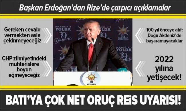 Erdoğan'dan Rize'de flaş açıklamalar.