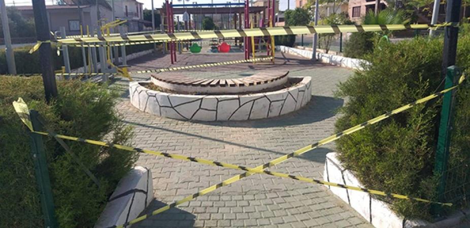 Akdoğan Belediyesi çocuk parklarını kapattı