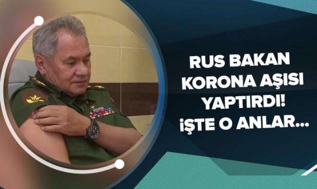 Rusya Savunma Bakanı Şoygu, koronavirüs aşısı Sputnik V'yi yaptırdı.