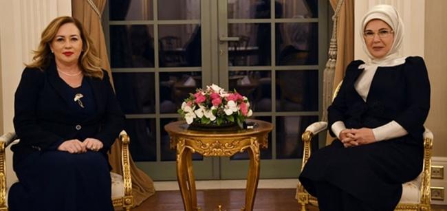 Sibel Tatar, Emine Erdoğan'la bir araya geldi