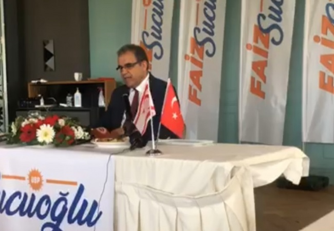 Sucuoğlu adaylık manifestosunu açıkladı