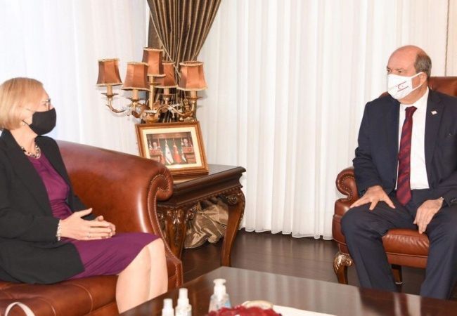 Cumhurbaşkanı Ersin Tatar, Spehar ile görüştü... 5'li konferans konuşuldu