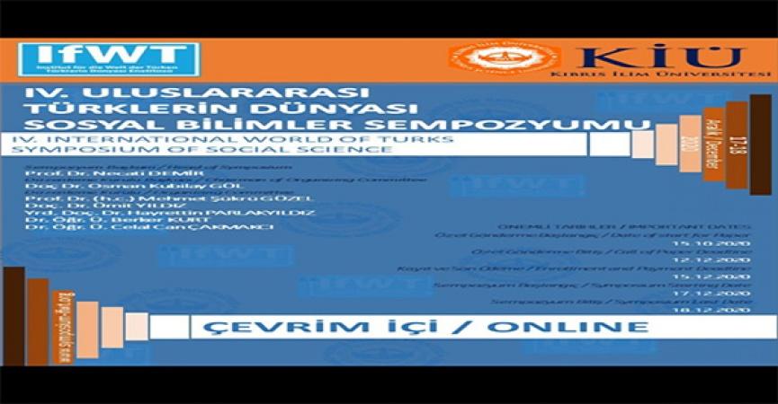 KİÜ' den Uluslararası Türklerin Dünyası Sosyal Bilimler Sempozyumu