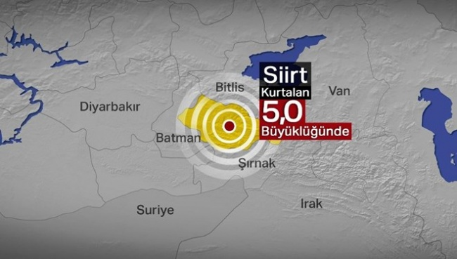 SON DAKİKA: Siirt'te  deprem