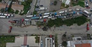 Müteahhitler Birliği Lefkoşa'da Araçlı Eylem Yapıyor