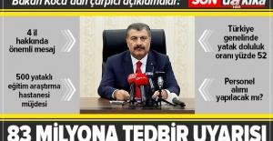 Sağlık Bakanı Fahrettin Koca'dan önemli açıklamalar.